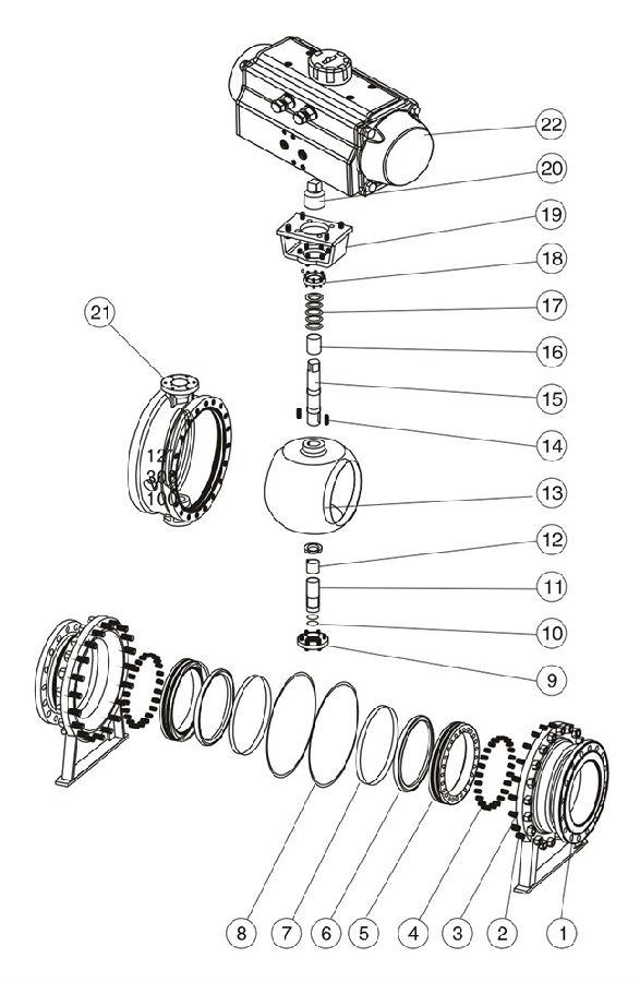 JIS标准固定式气动球阀